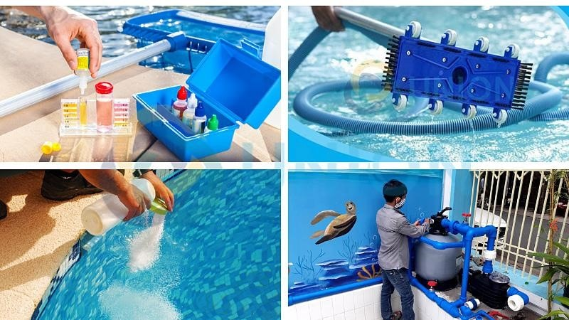 Các biện pháp giúp hồ bơi không cần phải thay nước thường xuyên